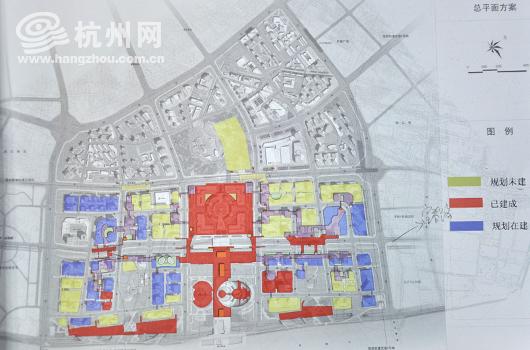 从规划图看可以看到,钱江新城的地下工程已经大部分开建.-钱江新