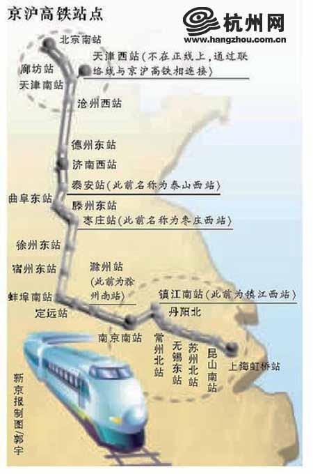 杭州到北京最快6小時19分